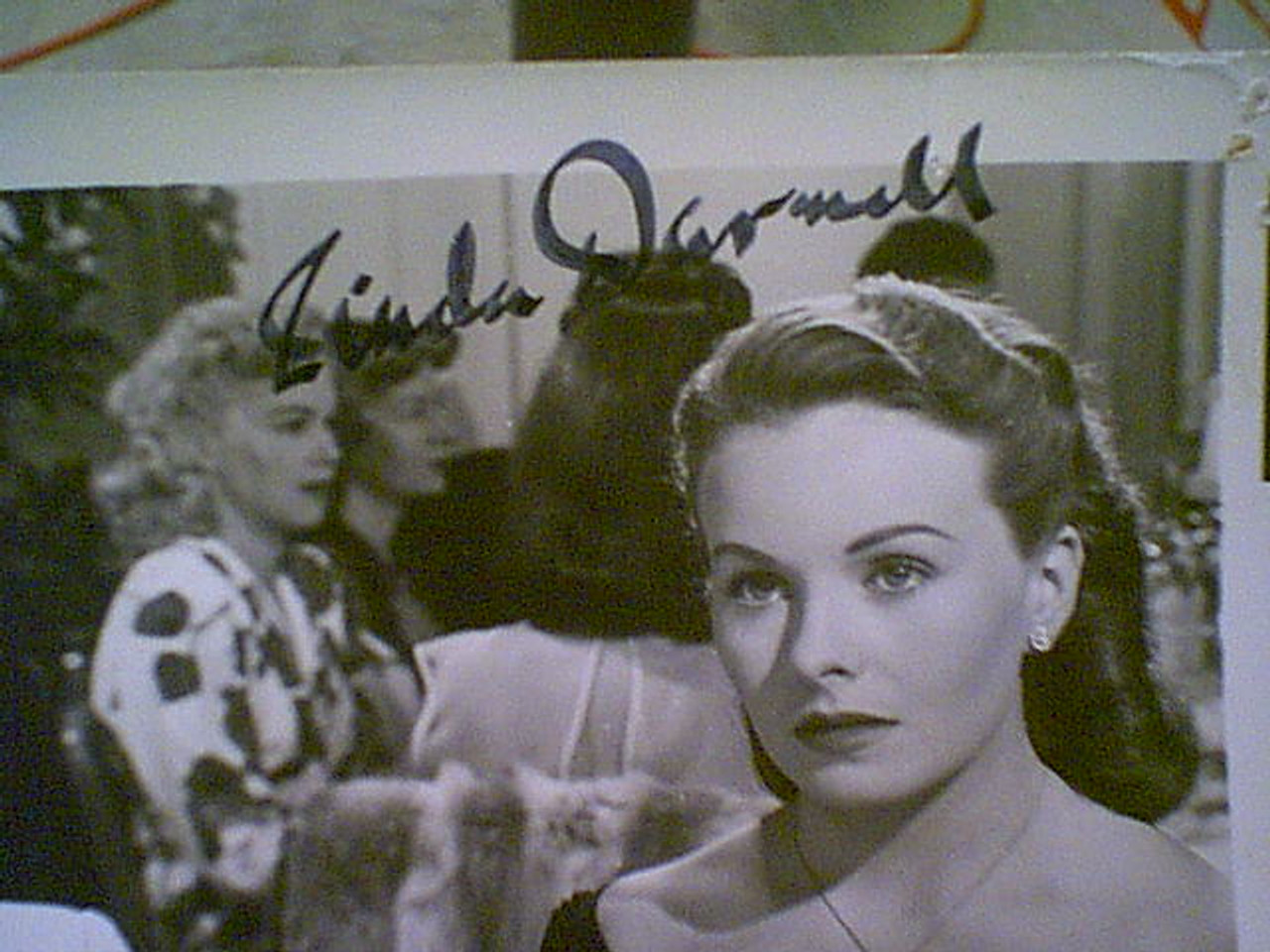 """Douglas, Kirk Linda Darnell Ann Sothern """"A Letter To Three Wives"""" 1949 Photo Signed Autograph Movie Scene"""