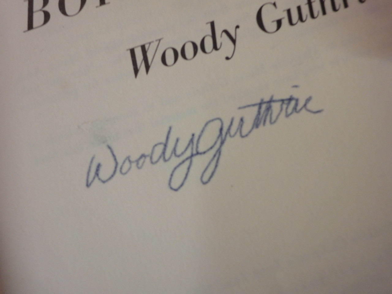 """Guthrie, Woody """"Born To Win"""" 1965 Book Signed Autograph Illustrated"""