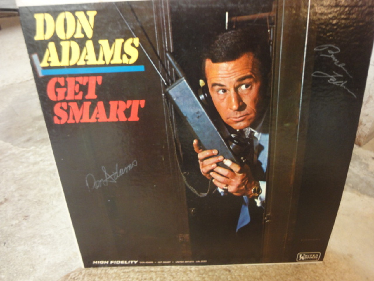 "Adams, Don and Barbara Feldon ""Get Smart"" 1965 LP Signed Autograph"