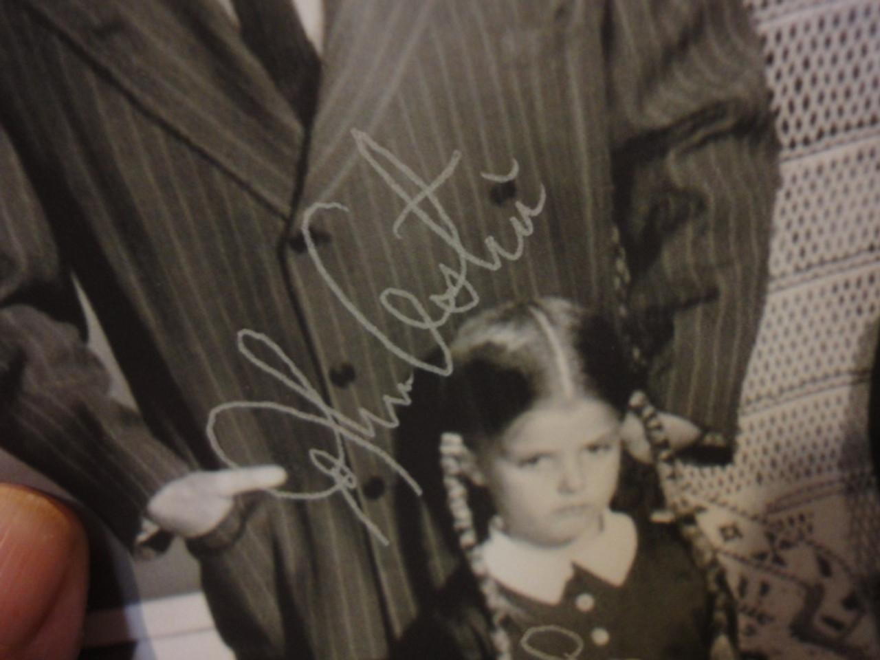 Addams Family Photo Signed Autograph John Astin Lisa Loring Felix Silla