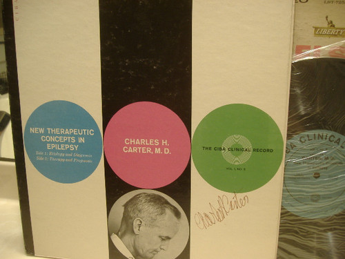 Carter, Charles H Md LP Signed Autograph New Therapeutic Concepts In Epilepsy