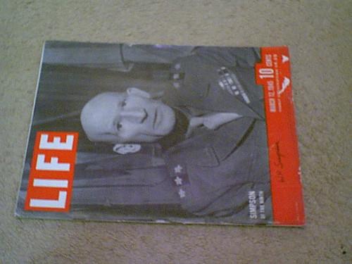 Simpson, General William Hood Life Magazine 1945 Signed Autograph World War Ii