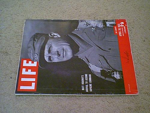 Ridgway, General Matthew Life Magazine 1951 Signed Autograph Cover Photo