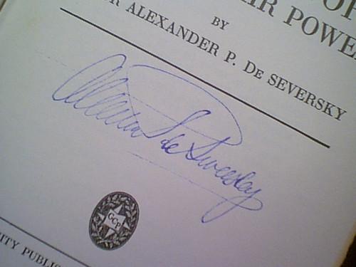 """De Seversky, Major Alexander P. """"Victory Through Air Power"""" 1943 Book Signed Autograph Aviation Photos Ww Ii"""