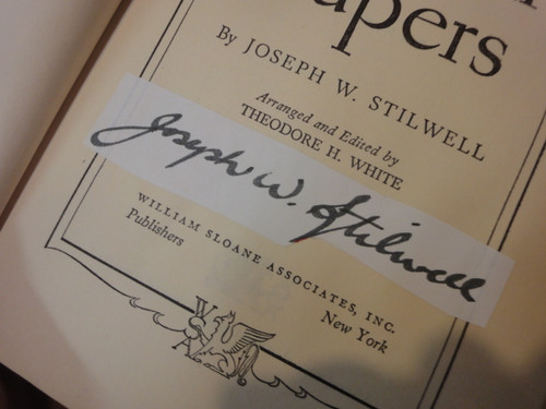 """Joseph Stilwell General """"The Stilwell Papers"""" Book Signed Autograph WW II Photos"""