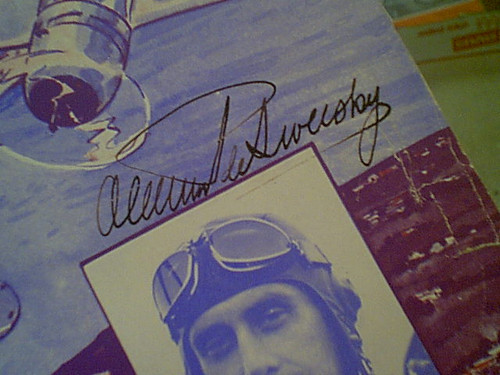"""De Seversky Deseversky, Alexander """"Over Land And Over Sea"""" 1937 Sheet Music Signed Autograph Cover Photo Air Force"""