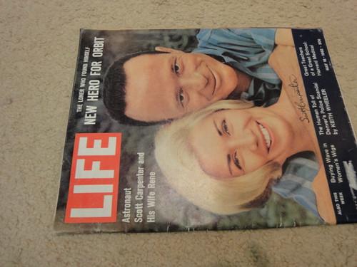 Carpenter, Scott Life Magazine 1962 Signed Autograph Color Cover Photo NASA Astronaut