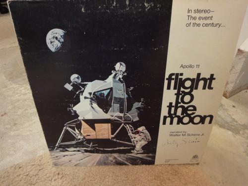 "Schirra, Walter Wally ""Flight To The Moon"" 1969 LP Signed Autograph Apollo 11 NASA Astronaut"