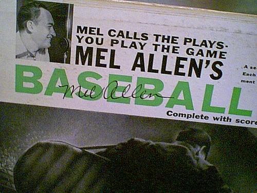 Allen, Mel LP Signed Autograph Baseball Game