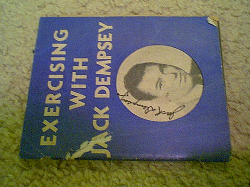 """Dempsey, Jack """"Exercising With Jack Dempsey"""" 1937 Boxing Booklet Signed Autograph Photo"""