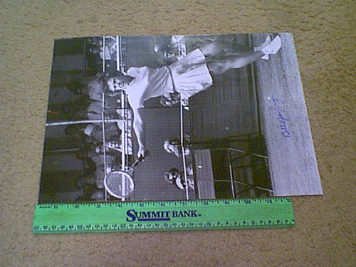 King, Billie Jean Photo Signed Autograph Tennis