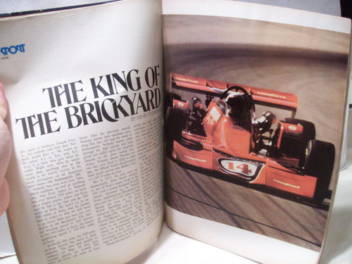 Foyt, A.J. Sport Magazine Signed Autograph June 1973 Nascar