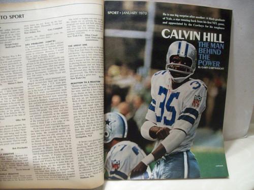 Hill, Calvin Sport Magazine Signed Autograph January 1970 Dallas Cowboys
