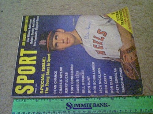 Chance, Dean 1965 Sport Magazine Signed Autograph Color Cover Photo Baseball Angels