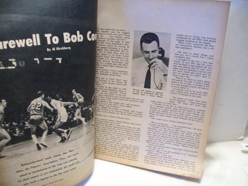 Cousy, Bob Sport Magazine Signed Autograph Boston Celtics March 1963