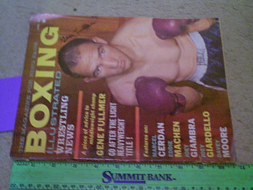 """Fullmer, Gene """"Boxing Illustrated"""" Magazine 1962 Signed Autograph Color Cover Photo"""