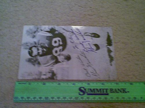 Marchetti, Gino Photo Signed Autograph Football Baltimore Colts
