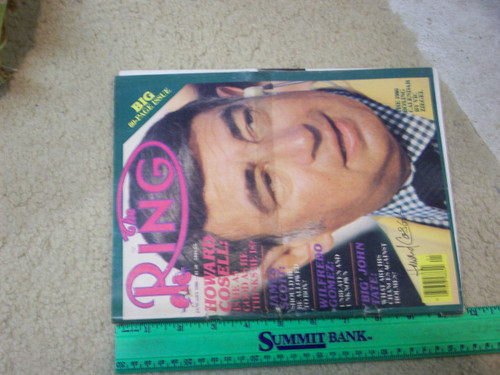 """Cosell, Howard """"The Ring"""" Boxing Magazine 1980 Signed Autograph Color Cover Boxing"""