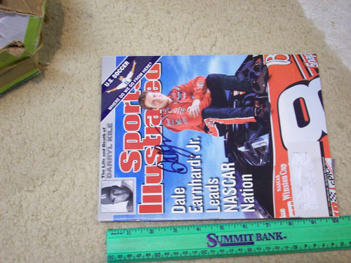 Earnhardt Jr.,Dale Sports Illustrated Magazine 2002 Signed Autograph Color Cover Photo NASCAR