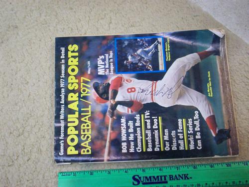 "Morgan, Joe ""Popular Sports"" Magazine Baseball 1977 Signed Autograph Cover Color Photo"