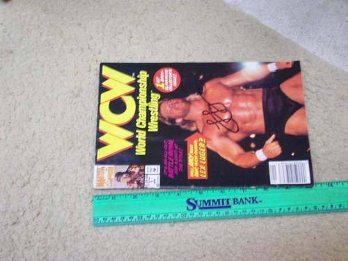 Luger, Lex World Championship Wrestling 1992 Marvel Comic Book Signed Autograph Color Cover Photo WCW