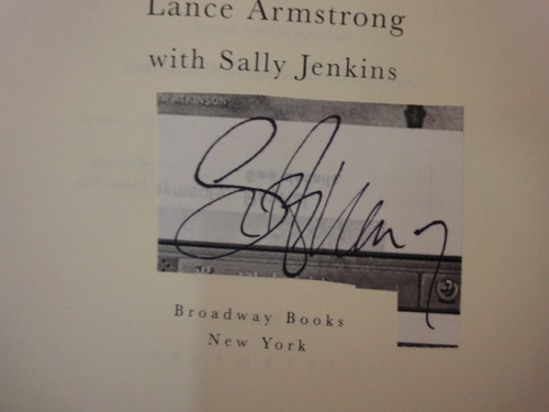 """Armstrong, Lance """"Every Second Counts"""" 2003 Book Signed Autograph"""