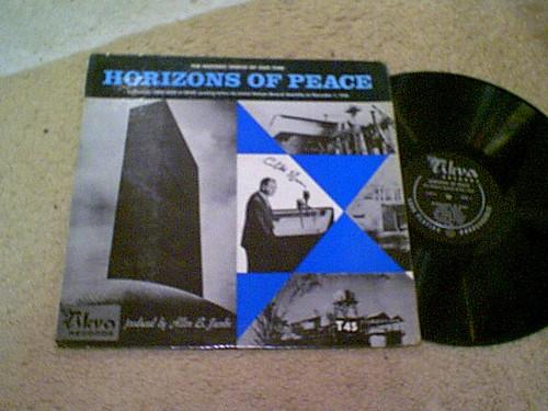 "Eban, Abba LP ""Horizons Of Peace"" 1956 United Nations Speech Signed Autograph Israel"