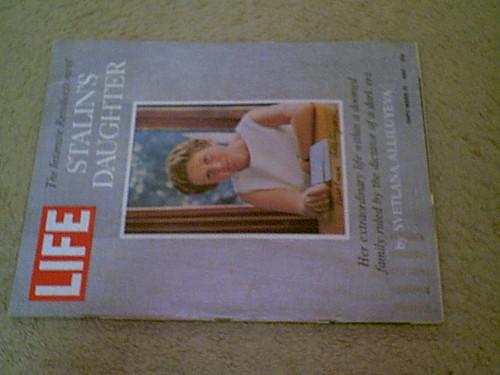 Stalin, Svetlana Alliluyeva Life Magazine 1967 Signed Autograph Cover Photo Josef Stalin