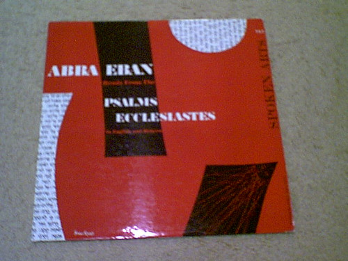 """Eban, Abba """"Reads From Psalms Ecclesiastes"""" 1960'S LP Signed Autograph Photo"""