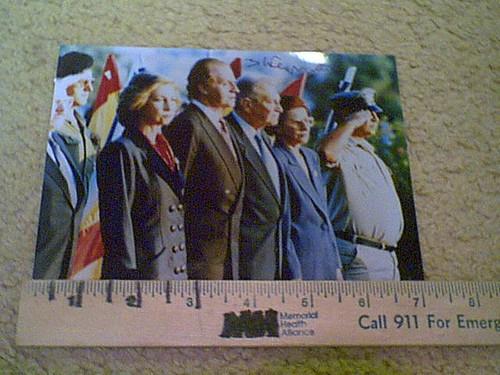 Weizman, President Ezer Color Photo Signed Autograph Israel 1990'S