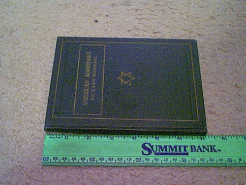 """Weizmann, Dr. Chaim """"American Address"""" 1923 Book Signed Autograph Illustrated Israel"""