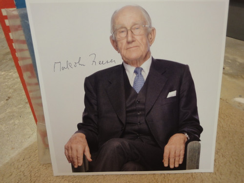 Fraser, Malcolm Color Photo Signed Autograph Australia Australian