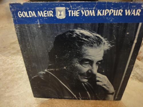 "Meir, Golda ""The Yom Kippur War"" 1974 LP Signed Autograph Israel Cover Photo"