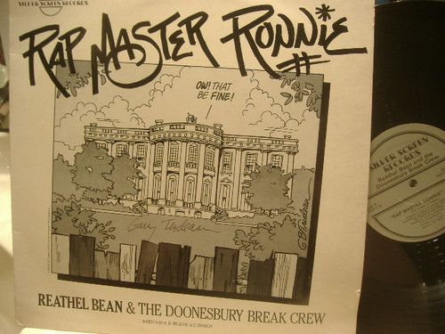 Trudeau, Garry LP Signed Autograph Rap Master Ronnie Doonesbury