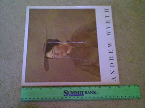 Wyeth, Andrew Exhibition Catalog Book 1966 Signed Autograph Illustrations Photos