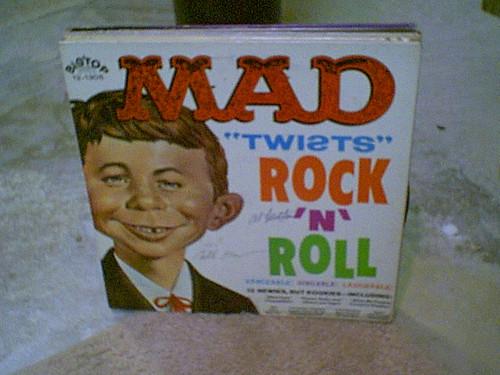 "Mad Magazine LP Al Feldstein William Bill Gaines ""Mad Twists Rock N Roll"" 1962 Signed Autograph"