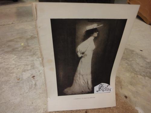Steichen, Edward Lithograph Photo Signed Autograph Cosmopolitan Magazine 1907