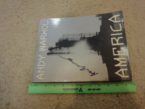 """Warhol, Andy """"America"""" 1985 Book Signed Autograph Photographs"""