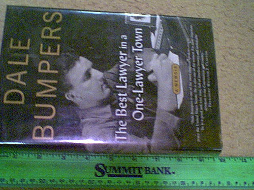 """Bumpers, Senator Dale 2003 Book """"The Best Lawyer In A One-Lawyer Town-A Memoir"""" Signed Autograph Photos First Edition"""