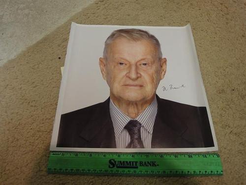 Brzezinski, Zbigniew Photo Signed Autograph