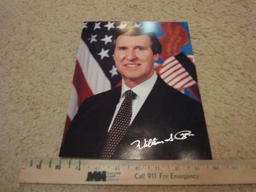 Cohen, William Color Photo Signed Autograph Secretary Of Defense