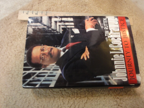 """Cochran, Johnnie """"Journey To Justice"""" 1996 Book Signed Autograph Photos OJ Simpson First Edition"""