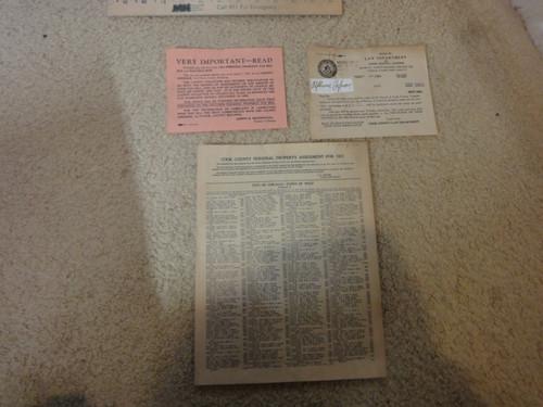 Capone, Al Alphonse Tax Bill 1931 Signed Autograph Chicago Cook County Illinois
