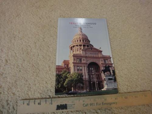 Bush, Bush Bush Bush George W. President Texas Statehood Sesquicentennial Stamp First Day Of Issue June 16, 1995 Signed Autograph Ceremony Program