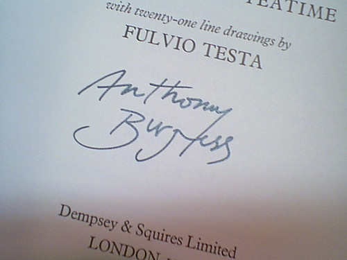 """Burgess, Anthony """"A Long Trip To Teatime"""" 1976 Book Signed Autograph Illustrated"""