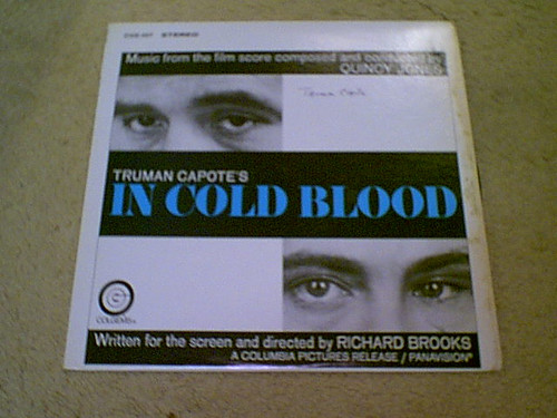 """Capote, Truman """"In Cold Blood"""" 1968 LP Signed Autograph"""