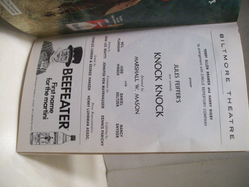 Feiffer, Jules Playbill Signed Autograph Knock Knock 1976