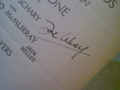 """Schary, Dore & Joan Hacket 1965 Theatre Programs """"One By One"""" & """"Peterpat"""" Signed Autograph"""