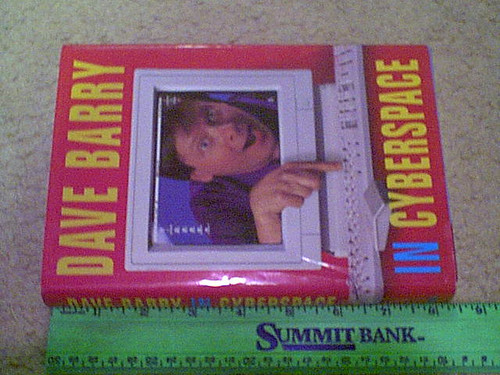 """Barry, Dave """"Dave Barry In Cyberspace"""" 1996 Book Signed Autograph"""