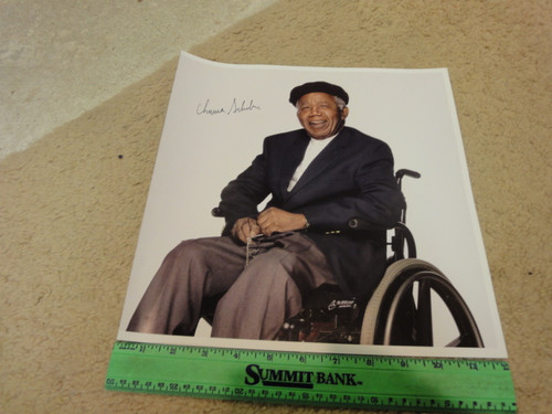 """Achebe, Chinua Color Photo Signed Autograph Africa """"Things Fall Apart"""""""